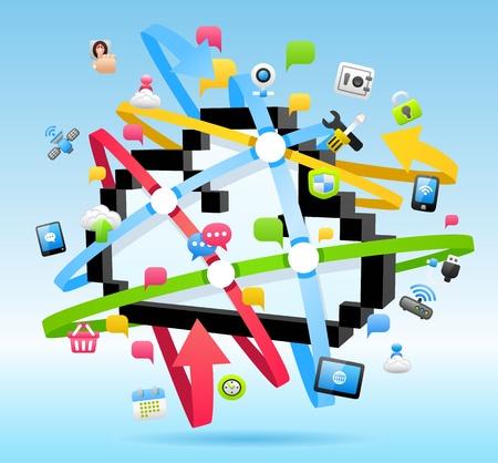 Cloud computing , Network concept