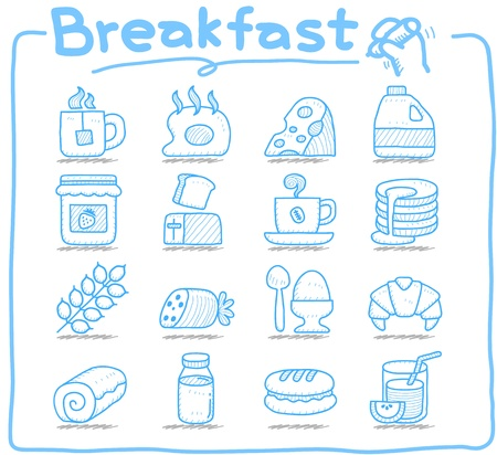toast bread: Pure series  Hand drawn  Breakfast, food  icon set