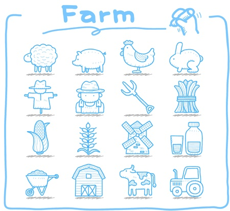 stables: Pure series   Hand drawn icon set Illustration