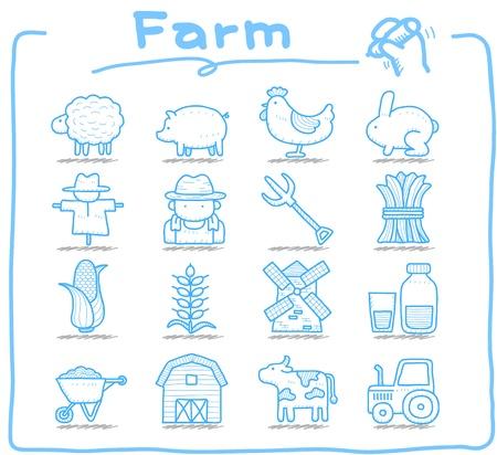 bála: Pure sorozat kézzel rajzolt icon set Illusztráció