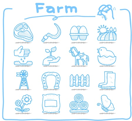 milk pail: Pure series   Hand drawn icon set Illustration