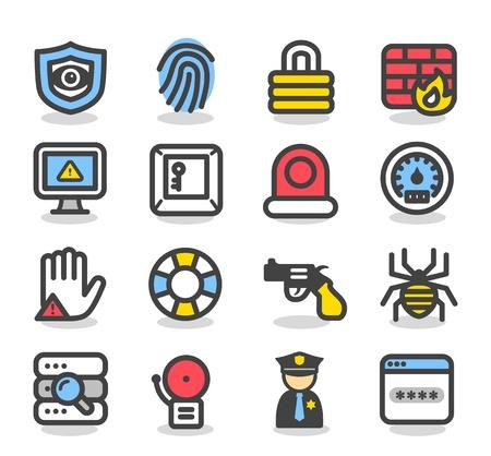bug key: Simple Series Security , network , internet icon set Illustration