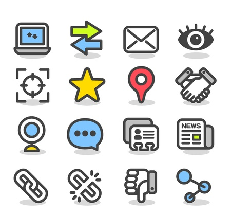 Simple Series   Social ,Network icon set Vector