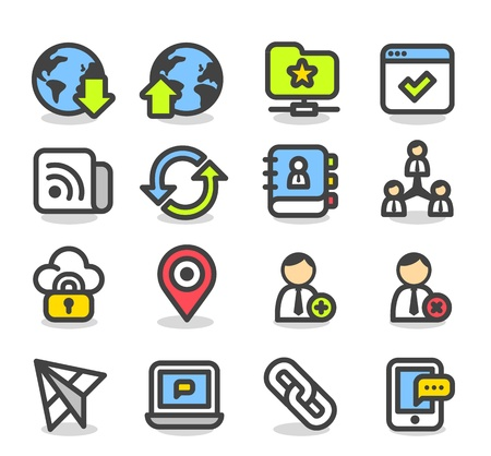 contact book: Simple Series   Network,Social Media icon set