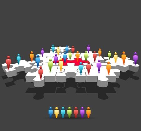 Puzzle ,Communication concept
