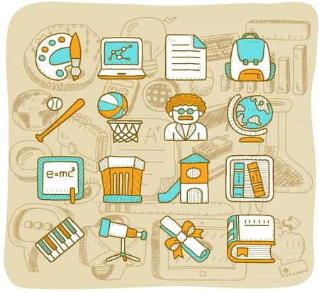 curriculum: Mocha Series - School,education icon set