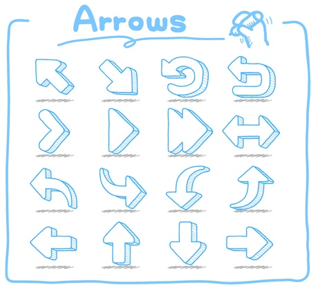 Pure Series - Hand drawn Arrow Sign Vector