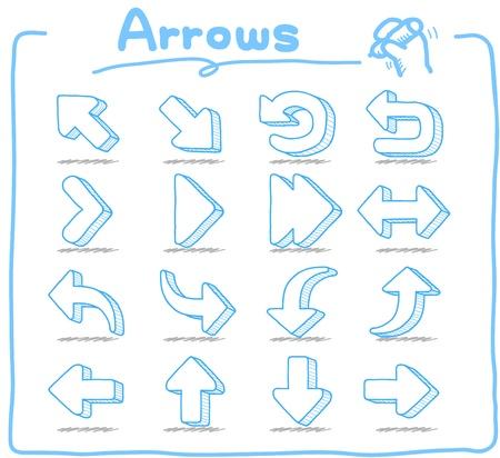 Hand drawn: Pure Series - Hand drawn Arrow Sign