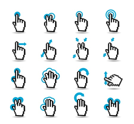 Simple Series - Touch Pad Gestures Stock Vector - 13662164