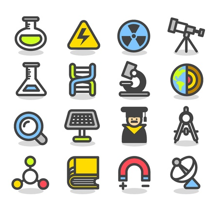 Simple Series - Science icon set Vector