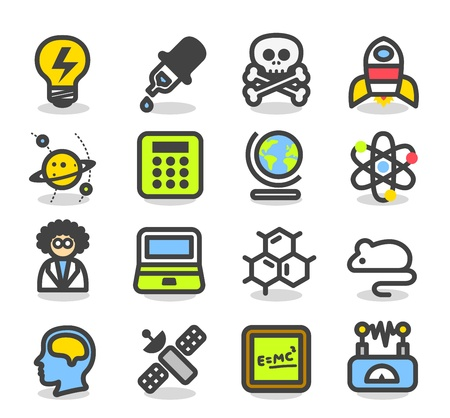 Simple Series - Science icon set Stock Vector - 13727058