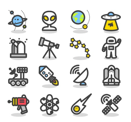 rover: Simple Series - Universe ,Space icon set