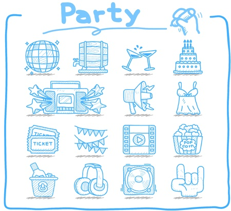 pure: Pure Series - Party,Celebration,Holiday icon set  Illustration