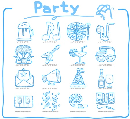 popper: Pure Series  - Party,Celebration,Holiday icon set  Illustration