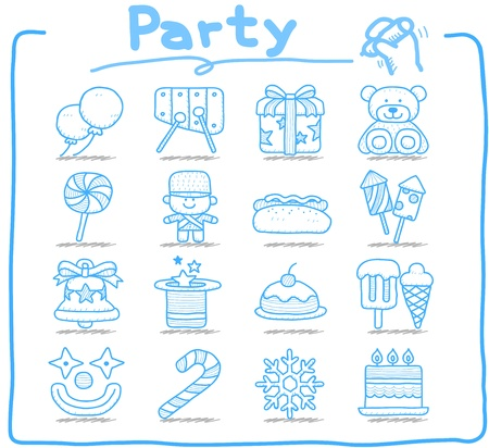 Pure Series - Party,holiday icon set Vector