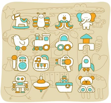 Mocha series - Toy,baby icon set