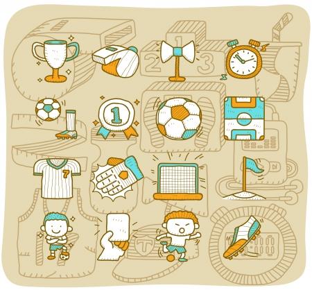 corner kick soccer: Mocha series - soccer,football,sport icon set