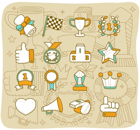 Mocha Series - Award icon set Vector