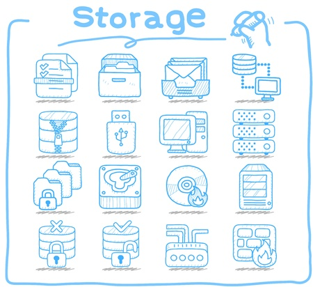 Pure Series   Storage ,Business,Internet icon set Stock Vector - 14199615