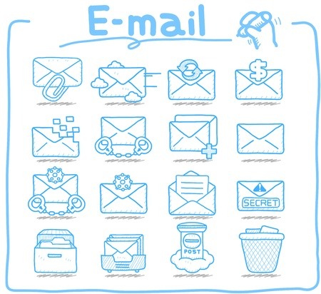 Pure Series   E-mail ,Business,Internet icon set Vector