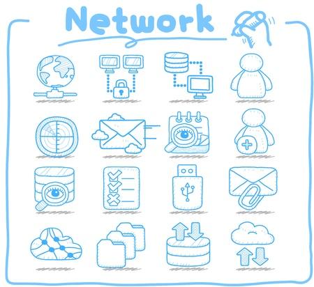 純粋なシリーズのネットワーク、ビジネス、インターネットのアイコンを設定