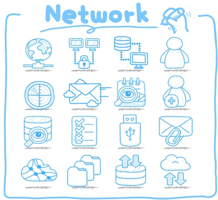 Pure Series   Network,Business,Internet icon set Stock Vector - 14199608