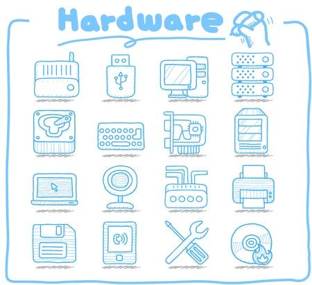 Czysta Series Hareware, Biznes, Internet zestaw ikon Ilustracje wektorowe