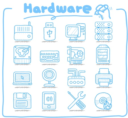 Pure Series   Hareware ,Business,Internet icon set Stock Vector - 14199603