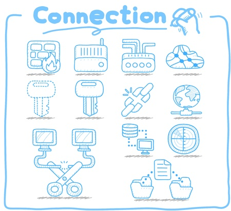 Pure Series   Connection ,Business,Internet icon set Vector