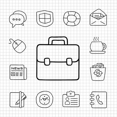 Blanc Série jeu d'icônes d'affaires