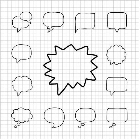 White-serie - Speech Bubbles icon set