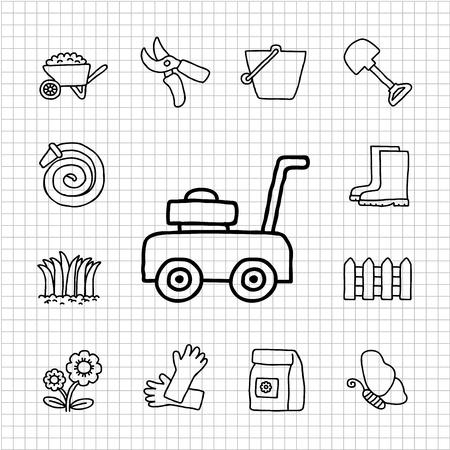 White Series - Garden icon set