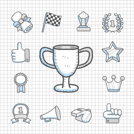 spotless: Spotless Series - Hand drawn Award,competition  icon set