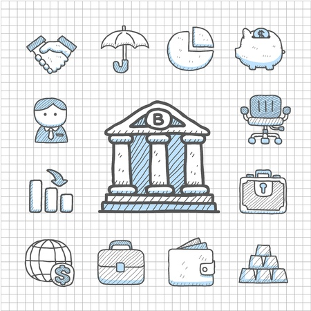 Spotless series   Hand drawn Finance icon Stock Vector - 14400291