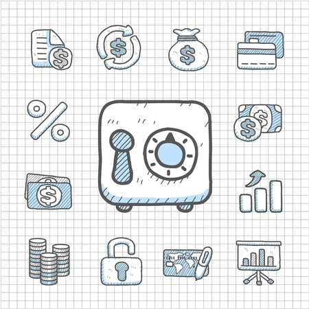 Spotless series   Hand drawn Finance icon Vector