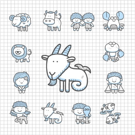 sea goat: Spotless series - Hand drawn icon set