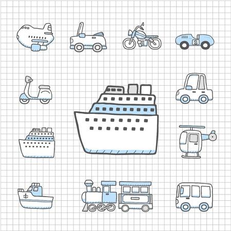 Spotless serie Transport, auto-icon set