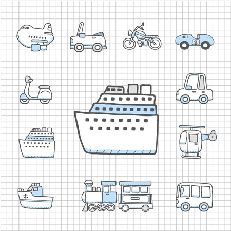 Spotless series   Transportation,car icon set Stock Vector - 14400293