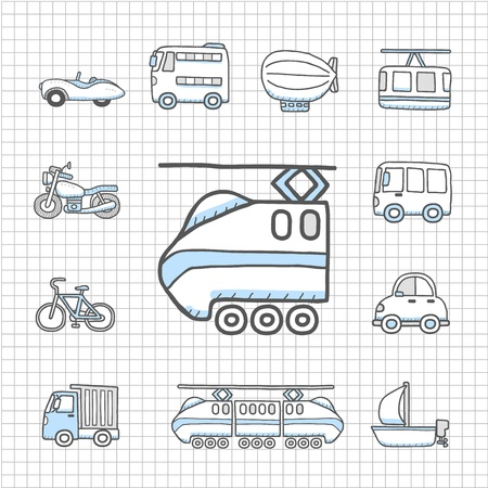 harley: Spotless serie Transport, auto icon set