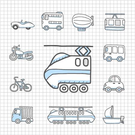 flying boat: Transporte impecable serie, coche icono de conjunto