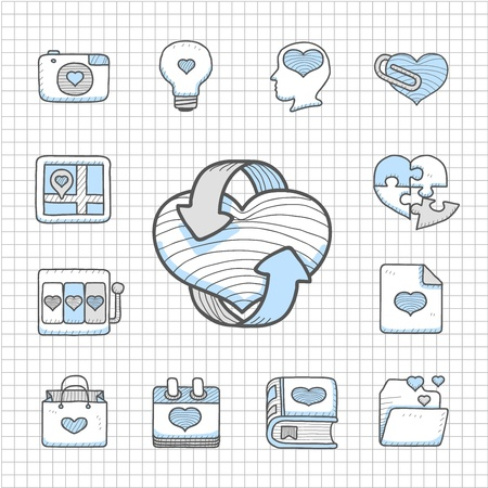 Spotless Series   Valentine s Day ,love , wedding icon set Stock Vector - 14483746