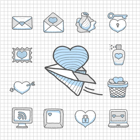 Spotless Series   Valentine s Day ,love , wedding icon set Vector