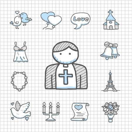 spotless: Spotless Series   hand drawn love,wedding,fashio n icon set