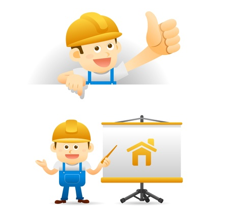 Elegant People Series - builder set Vector