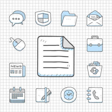 printers: Spotless Series   Hand drawn business icon set