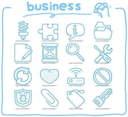 Mano Serie Pure dibujado internet, negocio conjunto de iconos Foto de archivo - 14884153