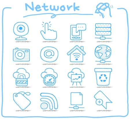 smartphone business: Pure Series   Hand drawn internet,business icon set