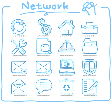 hand drawn: Pure Series   Hand drawn internet,business icon set