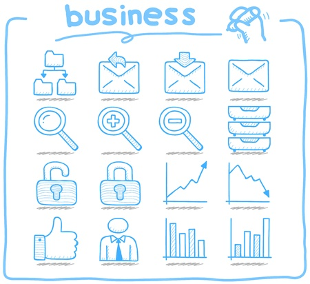 Pure Series   Hand drawn internet,business icon set Vector