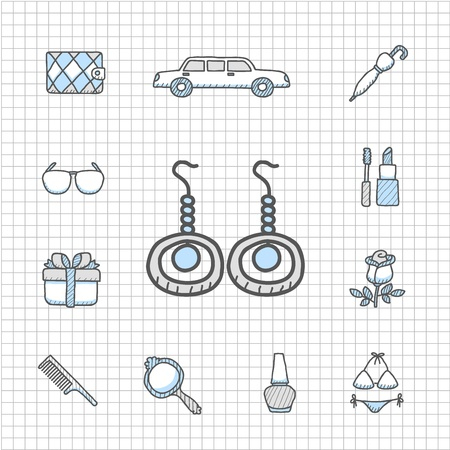 spotless: Spotless Series - fashion,beauty accessory icon set Illustration